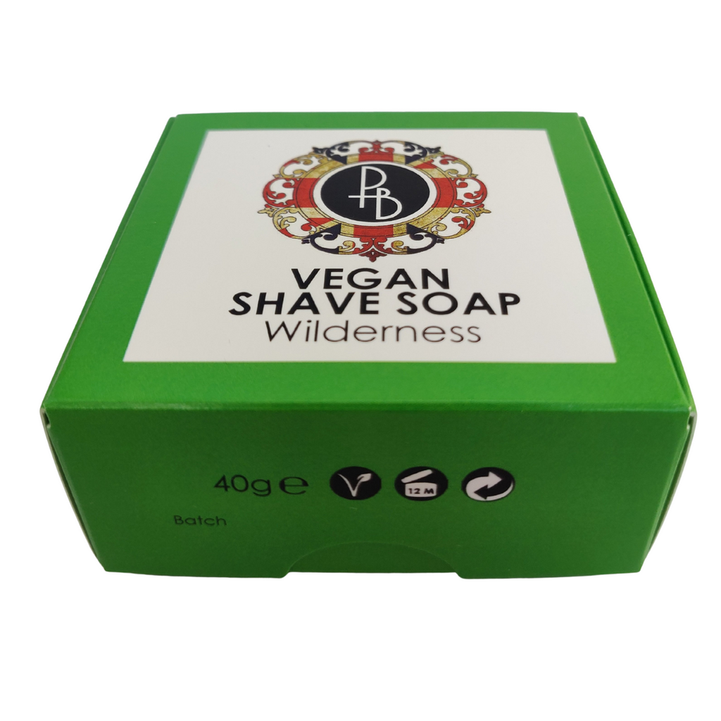 Phoenix and Beau Vegan Shaving Soap Wilderness 40g | Agent Shave | Wet Shaving Supplies UK