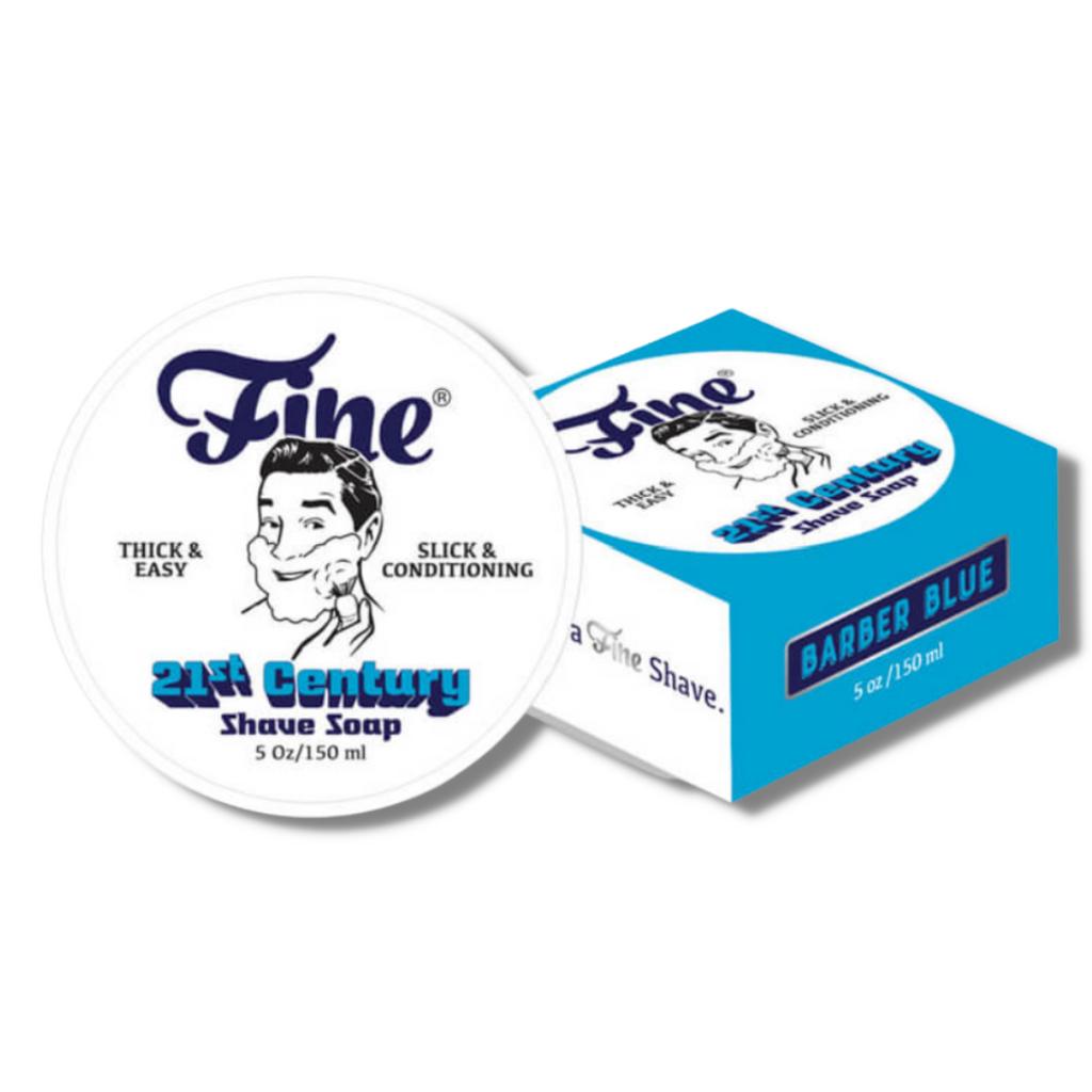Fine Barber Blue 21st Century Shaving Soap 150ml | Agent Shave | Wet Shaving Supplies UK