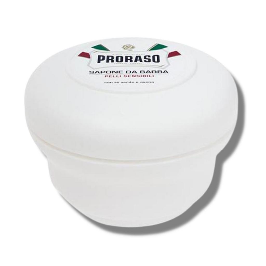 Proraso Shaving Soap Sensitive (White) 150ml   Agent Shave   Wet Shaving Supplies UK