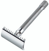 Merkur 25C DE Safety Razor Long Handled Open Comb | Agent Shave | Traditional Wet Shaving