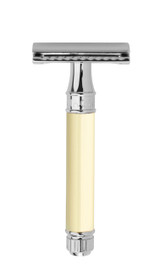 Edwin Jagger DE Double Edge Safety Razor - Ivory DE87BL | Agent Shave | Traditional Wet Shaving Supplies UK