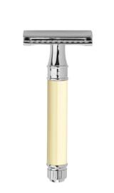Edwin Jagger DE Double Edge Safety Razor - Ivory DE87BL | Agent Shave | Wet Shaving Supplies UK
