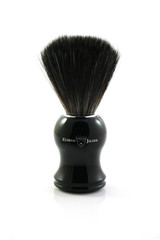 Edwin Jagger 21P36 Synthetic Shaving Brush - Black / Ebony | Agent Shave | Wet Shaving Supplies Uk