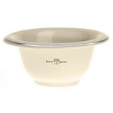 Edwin Jagger Ivory Porcelain Shaving Soap Bowl with Silver Rim | Agent Shave |  Wet Shaving Supplies UK