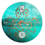 Phoenix & Beau Imperial Rum Shaving Soap |Bay, Spice & Lime | Agent Shave | Wet Shaving Supplies UK
