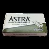 Astra Superior Platinum Double Edge Razor Blades x 5 | Agent Shave | Wet Shaving Supplies UK