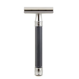 Edwin Jagger 3ONE6 Safety Razor - Gunmetal | Agent Shave | Wet Shaving Supplies UK