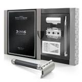 Edwin Jagger 3ONE6 Safety Razor - Gunmetal | Agent Shave | Wet Shaving Supplies UK