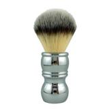 RazoRock Chrome Shaving Brush - Plissoft Silvertip Synthetic 24mm | Agent Shave | Wet Shaving Supplies UK