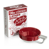 Fine Ceramic Shaving Bowl - Red | Agent Shave | Wet Shaving Supplies UK