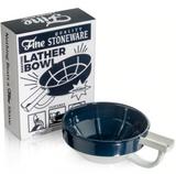 Fine Shaving Bowl - Brown & White | Agent Shave | Wet Shaving Supplies UK