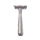 Leaf Twig Safety Razor - Silver | Agent Shave | Wet Shaving Supplies UK