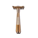 Leaf Twig Safety Razor - Gold   Agent Shave   Wet Shaving Supplies UK