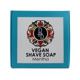 Phoenix and Beau Vegan Shaving Soap Mentha 40g | Agent Shave | Wet Shaving Supplies UK