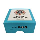 Phoenix and Beau Vegan Shaving Soap Mentha 40g   Agent Shave   Wet Shaving Supplies UK