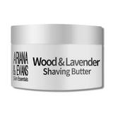 Ariana & Evans Vegan Shaving Butter - Wood & Lavender 118ml /4oz | Agent Shave | Wet Shaving Supplies UK