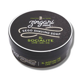 Zingari Man The Socialite Tallow Shaving Soap - Lime & Gin 5oz/142g  | Agent Shave | Wet Shaving Supplies UK