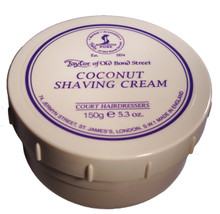 Taylor of Old Bond Street - Coconut Shaving Cream 150g | Agent Shave | Traditional Wet Shaving