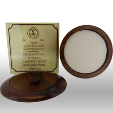Taylor of Old Bond Street - Sandalwood Shaving Soap in Wooden Bowl 100g | Agent Shave | Traditional Wet Shaving