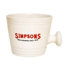 Simpsons Cream Traditional Shaving Mug – Small | Agent Shave