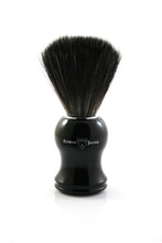 Edwin Jagger 21P36 Synthetic Shaving Brush - Black / Ebony | Agent Shave