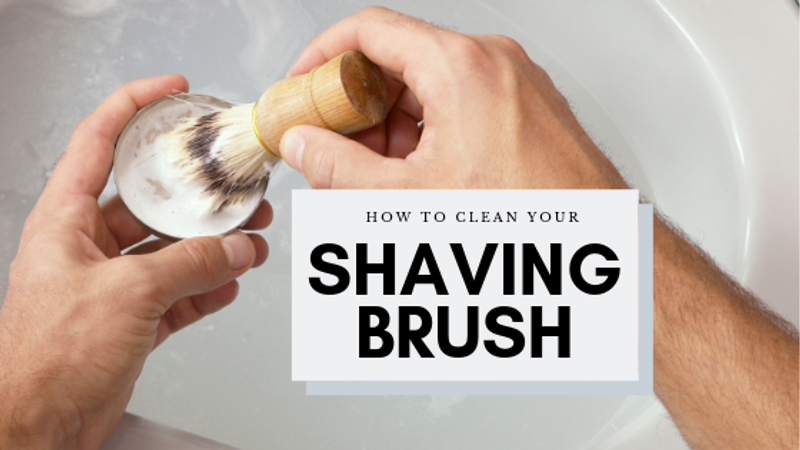How to clean your shaving brush