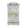 Joy Stember Lidded Frumma Tzedakah Box in Playful Baby Texture