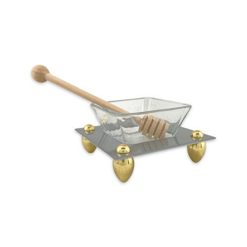 Honey Dish with Wooden Spoon
