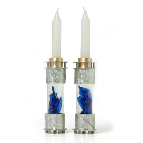 Round Wedding Shard Candle Holders