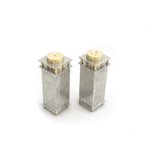 Metal Salt and Pepper Shakers
