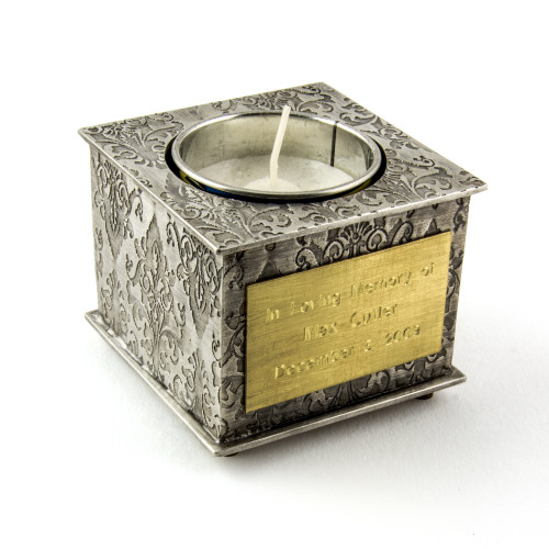 Custom Yahrzeit Candle Holder