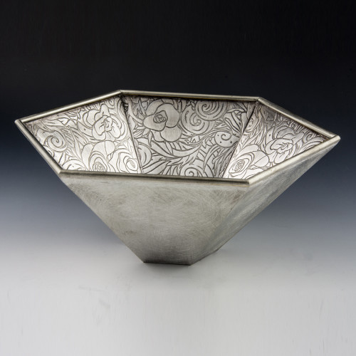 "Pewter Vered ""Rose"" Bowl"