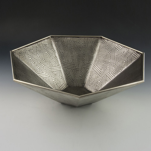 Pewter Deco Bowl