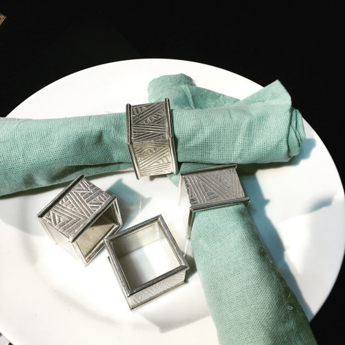 Deco Textured Napkin Rings