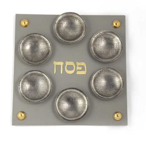 Square Magnetic Passover Seder Plate