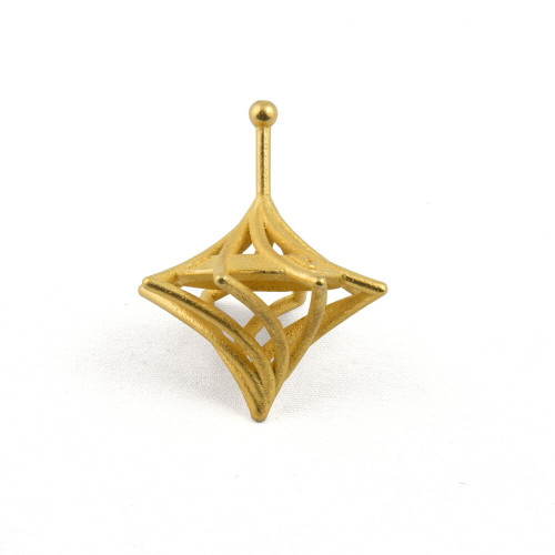 3D-printed Twisted Caged Hanukkah Dreidel