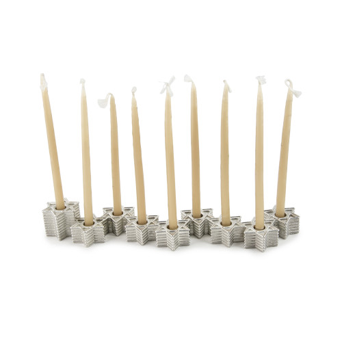 Modern Star of David Hanukkah Menorah