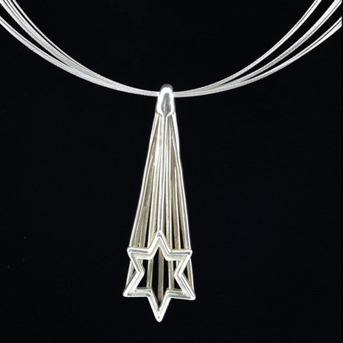 Shooting Star of David Necklace