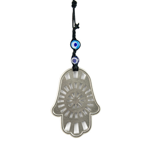Central Radial Design Wall Hamsa