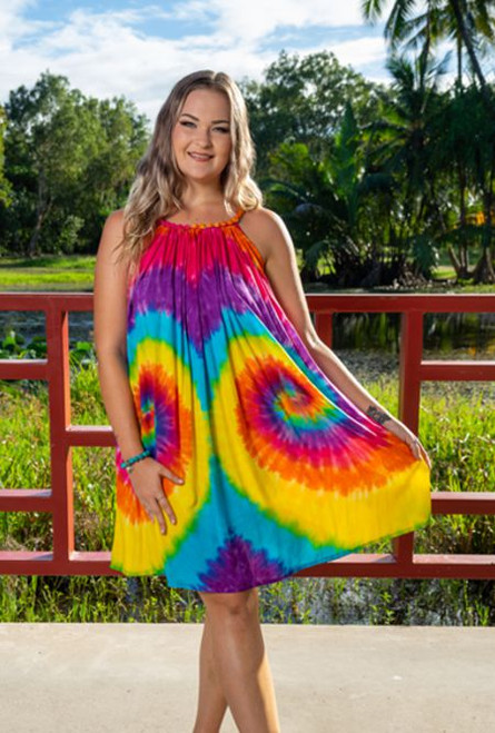 11992 Belinda Ladies Rainbow Dress