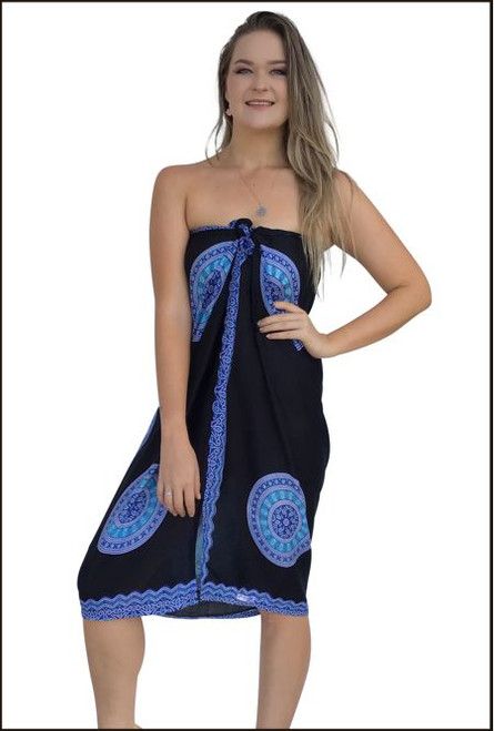 Black and Turquise Padma Print