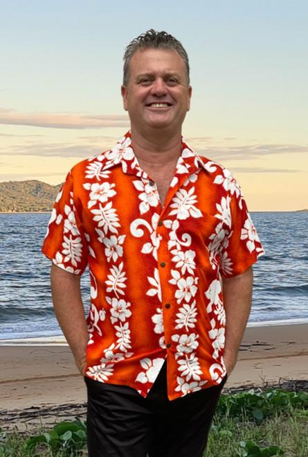 19997   Tony Men's Hawaiian  Hibiscus Bold