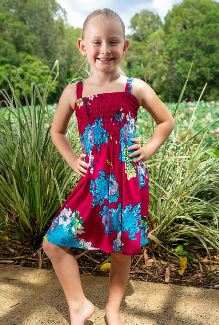 18984 Emma Kids Shirring Dress Blossom