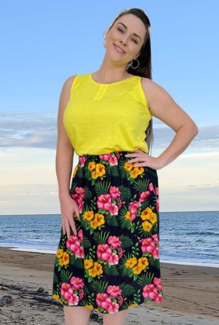 17991 Lenah 2 Pocket Skirt Savannah