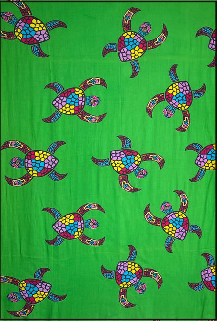 14971 Turtle Bright Sarong Pack 5