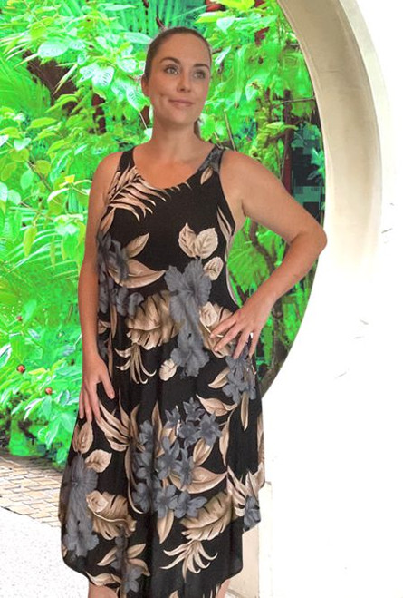 11970  Hannah Bias cut ladies sleeveless summer dress Rayon
