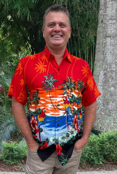 19995 Tony Men's Tropical Island Parrot & Cockatoo