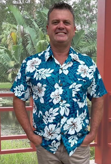 13940 Tony Men's Tropical Fade Hibiscus