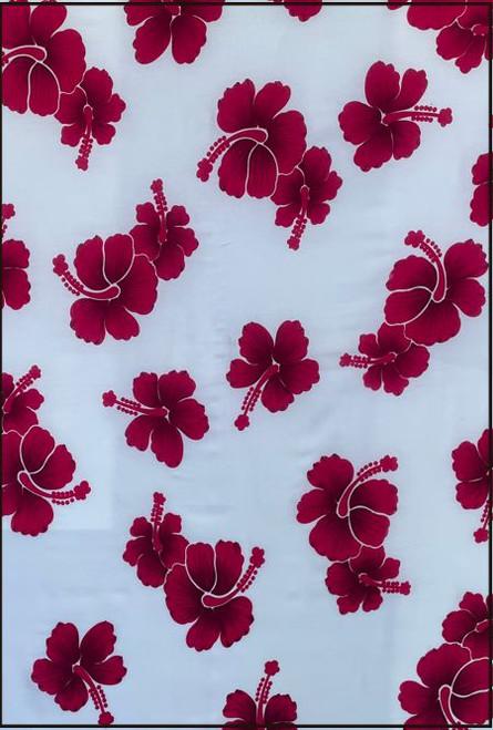 Hibiscus White Sarong Pink
