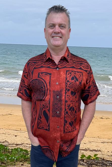 Celtic Men's Shirt Brown